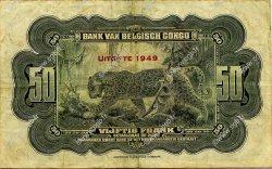 50 Francs CONGO BELGE  1949 P.16g pr.TB