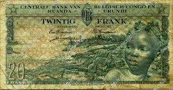 20 Francs CONGO BELGE  1957 P.31 TB