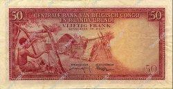 50 Francs CONGO BELGE  1959 P.32 TTB
