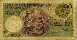 100 Francs CONGO BELGE  1956 P.33b B