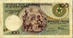 100 Francs CONGO BELGE  1957 P.33b TB