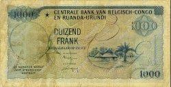 1000 Francs CONGO BELGE  1959 P.35 B+