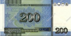 200 Won CORÉE DU NORD  2005 P.48 NEUF