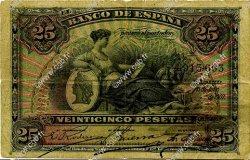 25 Pesetas ESPAGNE  1907 P.062a B