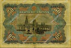 50 Pesetas ESPAGNE  1907 P.063a TB+
