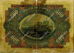 500 Pesetas ESPAGNE  1907 P.065 AB