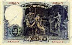 50 Pesetas ESPAGNE  1931 P.082 SUP
