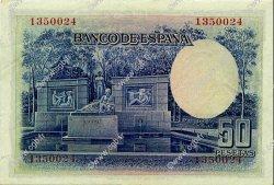50 Pesetas ESPAGNE  1935 P.088 SPL