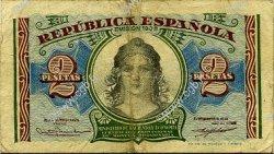 2 Pesetas ESPAGNE  1935 P.095 TB