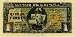 1 Peseta ESPAGNE  1940 P.122a SUP+