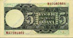 5 Pesetas ESPAGNE  1948 P.136a SUP+