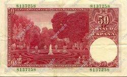 50 Pesetas ESPAGNE  1951 P.141a pr.SUP