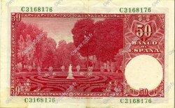 50 Pesetas ESPAGNE  1951 P.141a TTB+