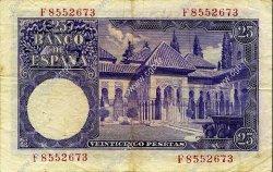 25 Pesetas ESPAGNE  1954 P.147a TB