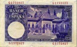 25 Pesetas ESPAGNE  1954 P.147a TTB