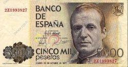 5000 Pesetas ESPAGNE  1979 P.160 TTB+