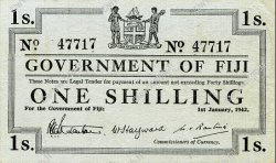 1 Shilling FIDJI  1942 P.048a TTB+