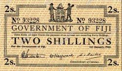 2 Shillings FIDJI  1942 P.050a SPL
