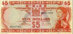 5 Dollars FIDJI  1974 P.073a TTB