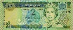 2 Dollars FIDJI  2002 P.104a pr.NEUF