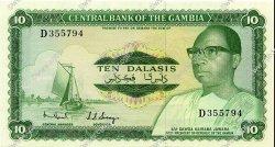 10 Dalasis GAMBIE  1972 P.06c NEUF