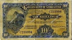 10 Shillings GIBRALTAR  1937 P.14a pr.B
