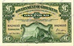 1 Pound GIBRALTAR  1971 P.18b NEUF