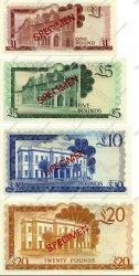 Lot de 4 billets GIBRALTAR  1975 P.CS1 NEUF