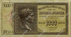 1000 Drachmes GRÈCE  1941 P.M17a TB