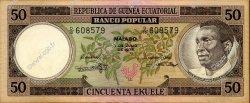 50 Ekuele GUINÉE ÉQUATORIALE  1975 P.10 SPL