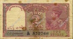 2 Rupees INDE  1943 P.017b TB