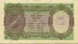 5 Rupees INDE  1943 P.018b SPL