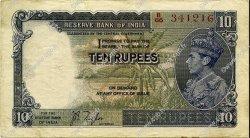 10 Rupees INDE  1937 P.019a TTB+