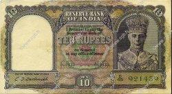 10 Rupees INDE  1943 P.024 TTB+