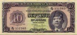 10 Rupiah INDONÉSIE  1950 P.037 SUP
