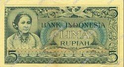 5 Rupiah INDONÉSIE  1952 P.042 TTB