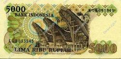 5000 Rupiah INDONÉSIE  1980 P.120a SUP+