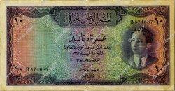 10 Dinars IRAK  1947 P.031 TB