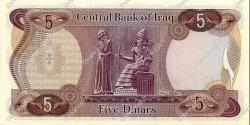 5 Dinars IRAK  1973 P.064 NEUF