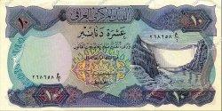 10 Dinars IRAK  1973 P.065 SUP