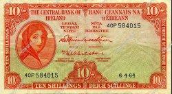 10 Shillings IRLANDE  1964 P.063 TTB