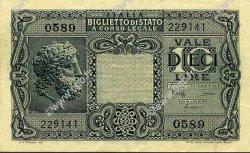 10 Lire ITALIE  1944 P.032c TTB