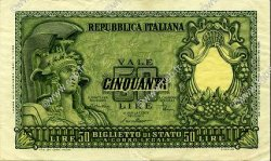 50 Lire ITALIE  1951 P.091a SUP
