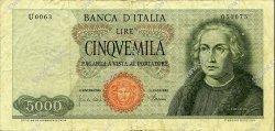 5000 Lire ITALIE  1968 P.098b TB+