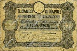 1 Lire ITALIE  1869 PS.819 B+