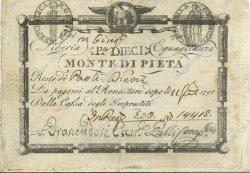 10 Paoli - 100 Bajocchi ITALIE  1798 PS.530 TB