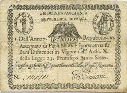 9 Paoli ITALIE  1798 PS.539 pr.TTB