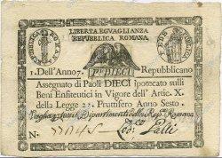 10 Paoli ITALIE  1798 PS.540c SUP