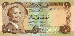 1/2 Dinar JORDANIE  1975 P.17e NEUF