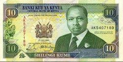 10 Shillings KENYA  1990 P.24b pr.NEUF